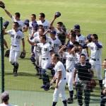 天理高校野球部 甲子園初戦 試合後、観衆にあいさつ
