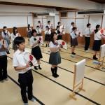 立教180年学修高校の部 おてふり練習