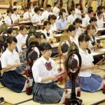 立教180年学修高校の部 鳴物練習