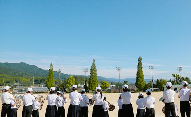 天理中学校吹奏楽部練習風景