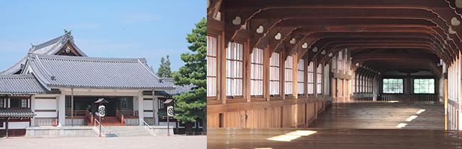 祖霊殿外観と神殿回廊