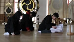 少年会員代表による祭文奏上