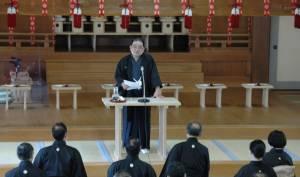 中田善亮表統領の記念講話