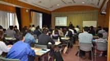 「働くようぼくの集い in Tokyo」には、関東圏のようぼく男女110人が参加した(20日、東京教務支庁で)