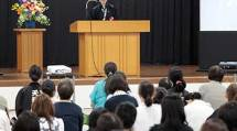 大阪教務支庁で開催された「会員決起の集い」には約480人が参加した(1日)