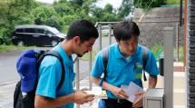 受講生は、カウンセラーと共に日本語で戸別訪問に臨んだ(7月18日、滋賀県甲賀市で)