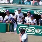天理高校野球部 甲子園準々決勝 ベンチも一丸となって