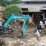 続報・災救隊福岡教区隊 九州北部豪雨の被災地へ 7月11日 重機作業