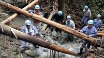 栃木県鹿沼市の山間部で、倒木の伐採に従事した(10月31日)